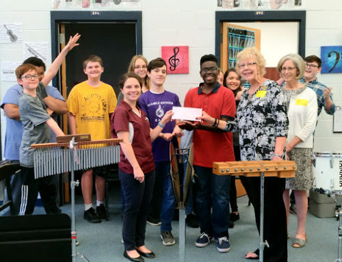 Jack Page Projects gives to Music at Gamble Rogers middle school