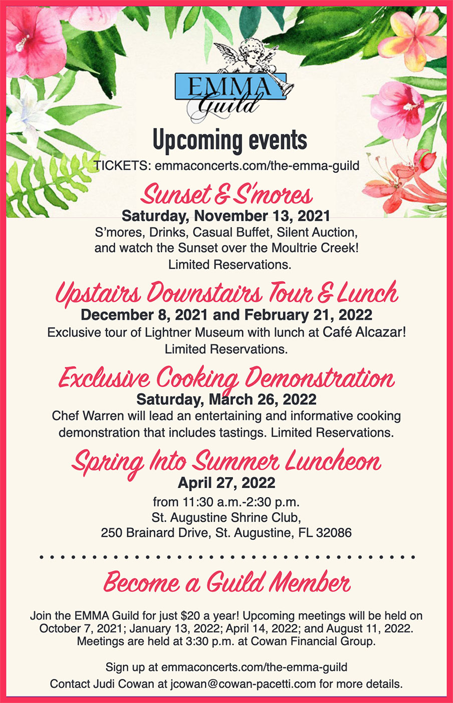 EMMA Guild Upcoming Events
